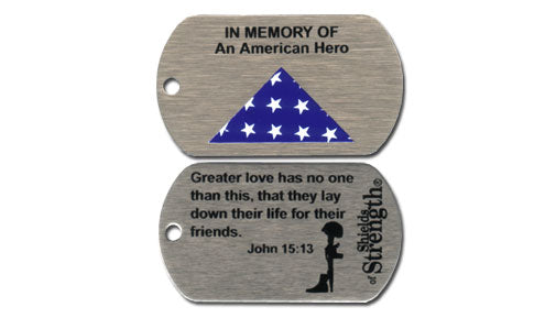 In Memory of An American Hero shield - John 15:13