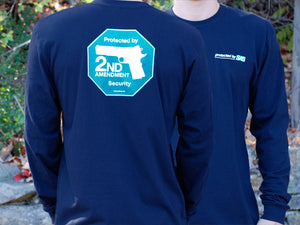 Second Amendment Security- Navy long-sleeve shirt