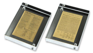 "Framed founding documents-- 4"" set"