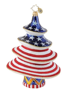 Radko Stars and Stripes Salute ornament