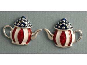 Teapot earrings