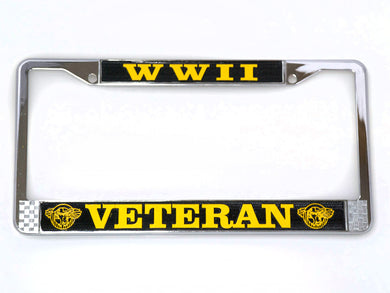 WWII Veteran license plate frame