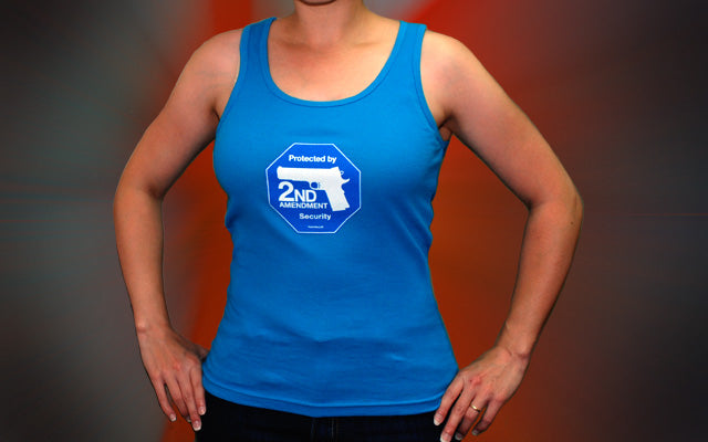 Overstock Sale - 2nd Amendment Security women's tank -- Teal Blue XXL