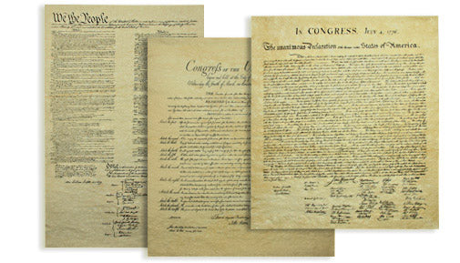 Parchment Founding Documents set -- unframed