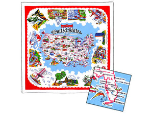 Map of America Tablecloth