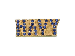 Navy Gemstone lapel pin