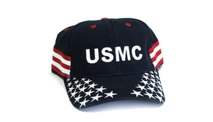 Overstock Sale - USMC hat - Stars and Stripes