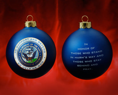 Patriot Exclusive Navy Ornament