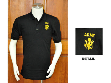 Army golf shirt - black