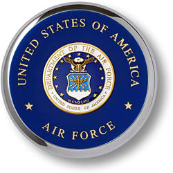 Air Force Seal Chrome Paperweight Coaster