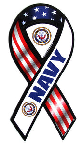 Navy ribbon magnet