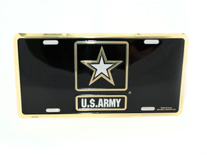 Army Star license plate