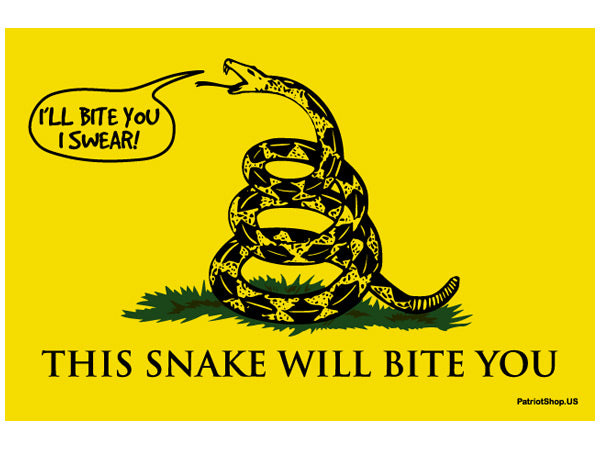 Gadsden sticker -Will Bite You