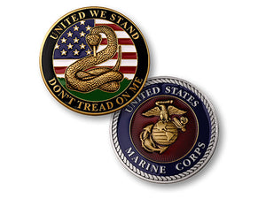 """Don't Tread on Me"" Marine coin"