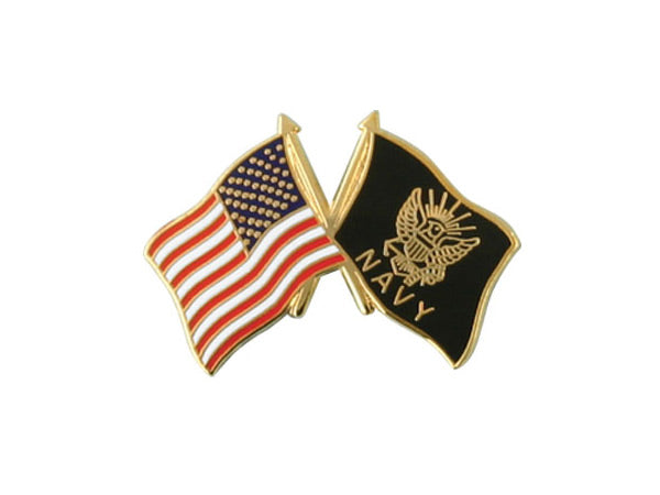 Navy Crossed Flag pin