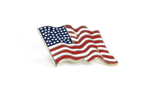 U.S. flag lapel pin (large)
