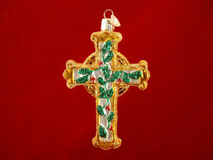 Holly Cross ornament