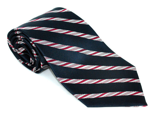 Peppermint Stripe silk tie