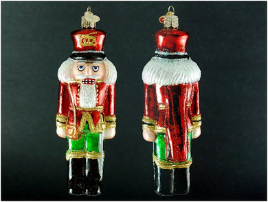 Soldier Nutcracker ornament-red and green