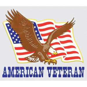 American Veteran with Eagle and Flag decal