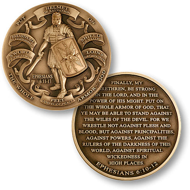 Bronze Armor of God coin