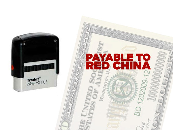 Payable to Red China stamp