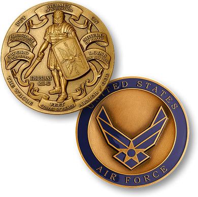 Bronze Armor of God - Air Force coin