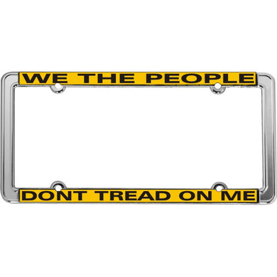 Don't Tread On Me thin rim license plate frame