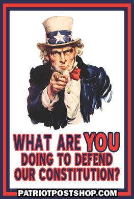 What Are YOU Doing to Defend Our Constitution? - sticker