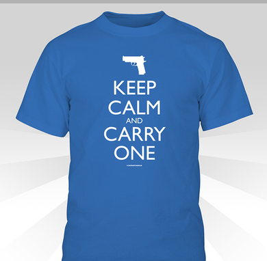 Keep Calm and Carry One shirt - blue
