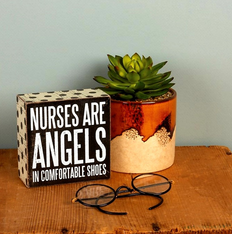 Nurses Are Angels Plaque