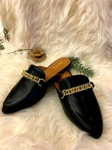 Mary Lou Black Leather Loafer