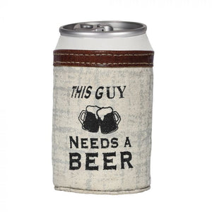 """This Guy Needs A Beer"" Can Holder"