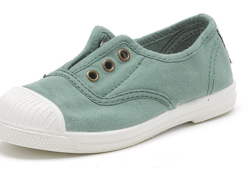 organic kids non laces canvas shoes