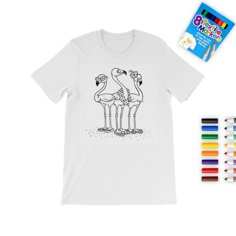 Flamingo Coloring T-Shirt - The Flamingo Shop
