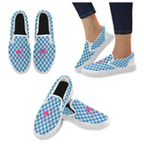Flamingo Life Gingham Womens Slip On Shoes - The Flamingo Shop