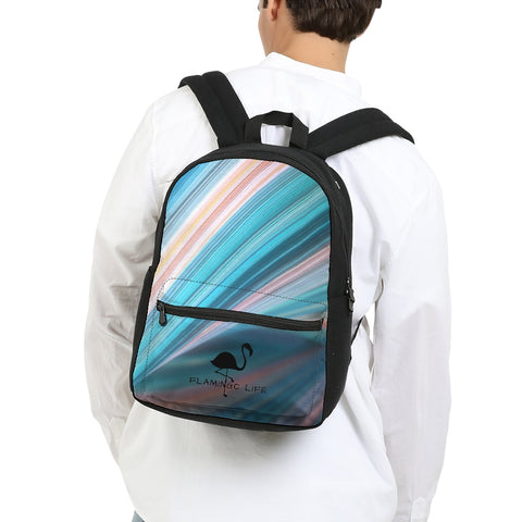 Flamingo Life Rainbow Swirl Small Canvas Backpack - The Flamingo Shop