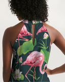 Pretty Flamingos Women's Halter Dress - The Flamingo Shop