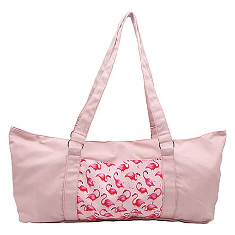 Flamingo Cotton Yoga Bag