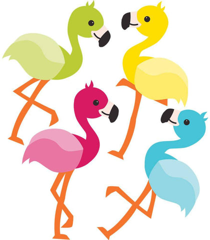 School Pop Flamingos Mini Cut-Outs - The Flamingo Shop