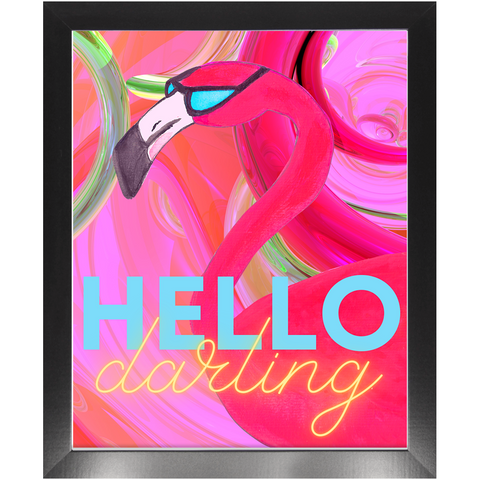 Hello Darling Framed Print