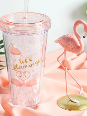 Flamingo Cup with Straw - The Flamingo Shop