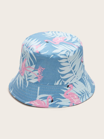 Flamingos Pattern Bucket Hat - The Flamingo Shop