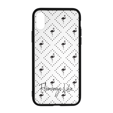 Flamingo Life Black and White iPhone X Case - The Flamingo Shop