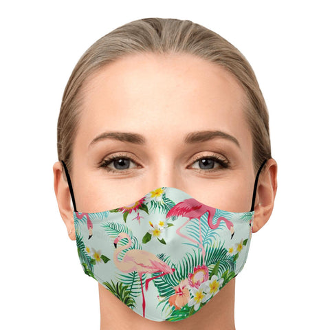 Tropical Flamingo Face Masks with Filters