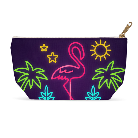 Neon Flamingo Accessory Pouch