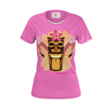 Flamingo Life Womens Tiki Head Tee Pink - The Flamingo Shop