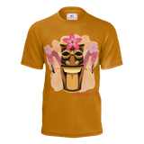 Flamingo Life TIki Head Mens Tee - The Flamingo Shop