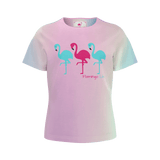 Flamingo Life Powder Rainbow Girls Tee - The Flamingo Shop