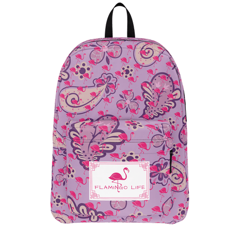 Flamingo Life Purple Paisley Backpack - The Flamingo Shop